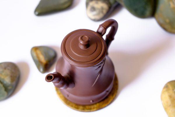 Глиняный чайник Бамбуковый Тай Пин - 210 мл
