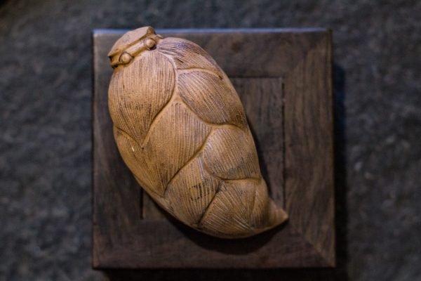 Чайная фигурка из керамики ручной работы Молодой бамбуковый побег - 4*10.5 см