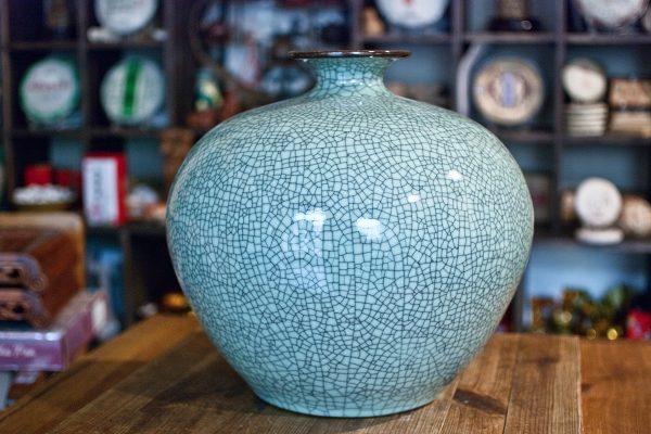 Керамическая ваза Колотый Лёд - 39 см