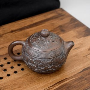Керамический чайник Багровый лотос - 220 мл