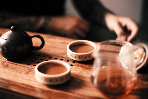 Пиала для чая из исинской глины День и Ночь - 30 мл