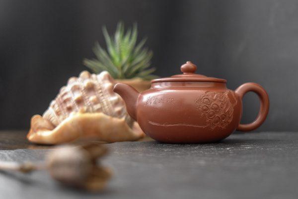 Глиняный чайник Исинский Лотос - 200 мл